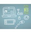 Hand drawn website design vector image