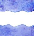 Blue watercolor paint background vector image