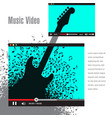 creative artwork for music video promotion vector image