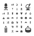 37 one icons vector image vector image
