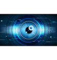 abstract technological eye scanning security vector image vector image