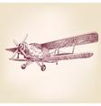airplane vintage hand drawn illustration vector image