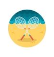Badminton Racket flat icon vector image vector image