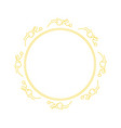 beautiful circle floral frame 02 vector image vector image