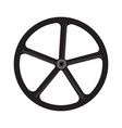 bike wheel silhouette vector image vector image