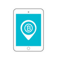 bitcoin tablet circle icon vector image vector image