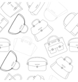 Black and white pattern of handbags vector image