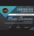 blue elegance certificate template vector image
