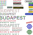 Budapest text design set vector image vector image