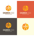 christian church logo and icon vector image vector image