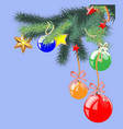 christmas objects collection detailed vector image vector image