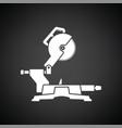 circular end saw icon vector image