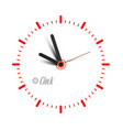 clock icon time symbol isolated vector image vector image