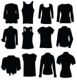 clothing for women black art silhouette vector image vector image