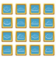 clouds icons azure vector image vector image