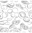 collection different nuts pattern vector image