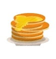 colored delicious pancakes maple syrup vector image