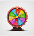 colorful fortune wheel isolated on white vector image