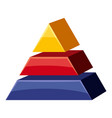 colorful triangle divided icon cartoon style vector image