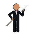 drawing character billiard player tuxedo vector image