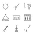 euphony game icons set outline style vector image vector image