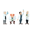 Four cute cartoon scientists characters isolated vector image vector image