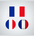 french trio flags vector image vector image