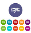 future game icons set color vector image