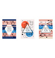 Geometric cover design set trendy abstract