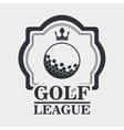 golf league design vector image vector image