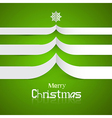Green Abstract Merry Christmas Background vector image vector image