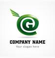 green company internet logo vector image vector image