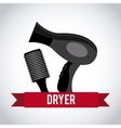 hair dryer design vector image