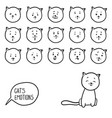 hand drawn cats emotions vector image