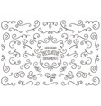 hand drawn swirl ornaments on white background vector image
