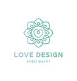 heart love sign design template logo flat style vector image vector image