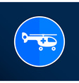 Helicopter ambulance icon medical air health vector image