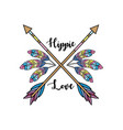 hippie culture of peace and love to lifestyle vector image vector image