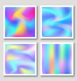 holographic hipster abstract backgrounds set vector image vector image