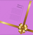 how yo choose shopping certificate decor gold bow vector image