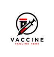 immune vaccine inspiration logo vector image vector image