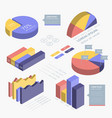 isometric infographic element vector image vector image