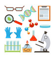 laboratory equipment set science vector image