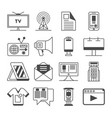 Media and advertisement icon set