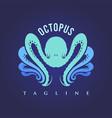 modern octopus silhouette modern logo vector image vector image