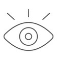 monitoring thin line icon security and eye vector image vector image