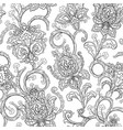 monochrome paisley pattern seamless background vector image