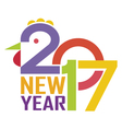 New Year Background 2017 vector image vector image