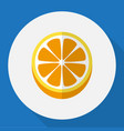 of dessert symbol on orange vector image vector image