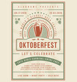 oktoberfest beer festival celebration poster vector image